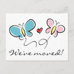 ❤️ Cute butterfly moving postcards | We've moved!