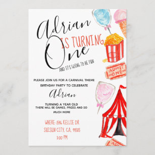 carnival theme invitations zazzle
