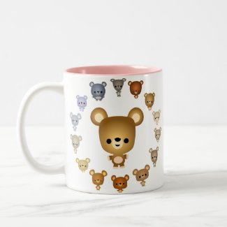 Cute Cartoon Bear Babies Mug mug