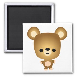 Cute Cartoon Bear Cub Magnet magnet
