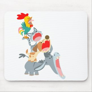 Cute Cartoon Bremen Town Musicians Mousepad mousepad