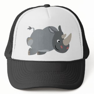 Cute Cartoon Charging Rhino Hat hat