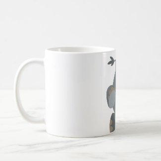 Cute Cartoon Charging Rhino Mug mug