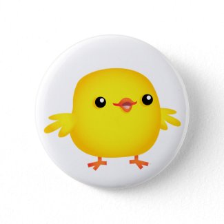 Cute Cartoon Chick :) button badge button