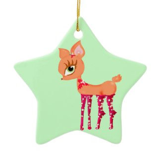 Cute cartoon Chrismas Reindeer ornament