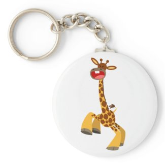 Cute Cartoon Dancing Giraffe Keychain keychain
