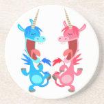 Cute Cartoon Dancing Unicorns Coaster