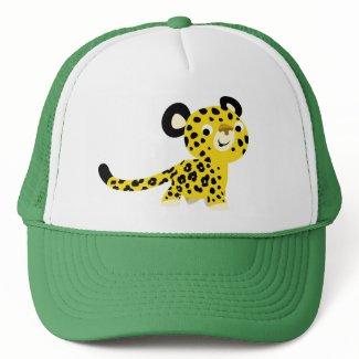 Cute Cartoon Friendly Leopard Hat hat