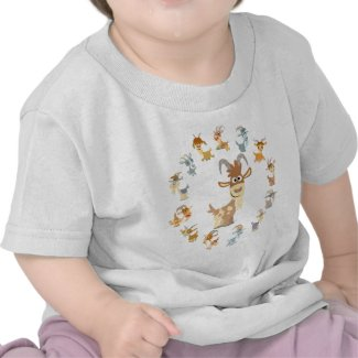 Cute Cartoon Goat Mandala Baby T-Shirt shirt