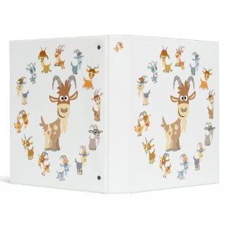 Cute Cartoon Goat Mandala Binder binder