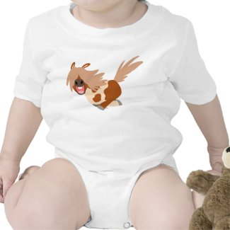 Cute Cartoon Happy Pinto Pony Baby Creeper shirt