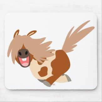 Cute Cartoon Happy Pinto Pony mousepad mousepad
