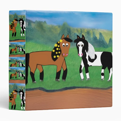 Cute Cartoon Horse Binder