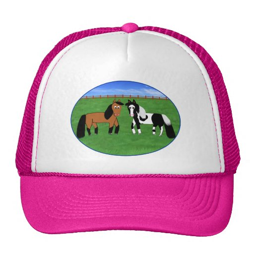 Cute Cartoon Horses Trucker Hat