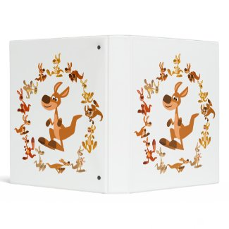 Cute Cartoon Kangaroos Mandala Avery Binder binder
