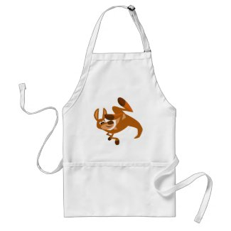 Cute Cartoon Kangaroo's Somersault Apron apron