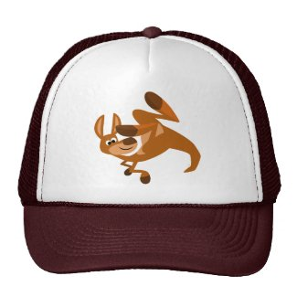 Cute Cartoon Kangaroo's Somersault Hat hat