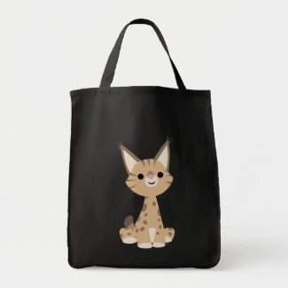 Cute Cartoon Lynx Bag bag