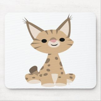 Cute Cartoon Lynx Mousepad mousepad