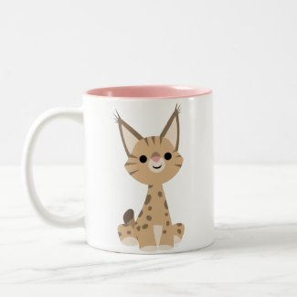 Cute Cartoon Lynx Mug mug