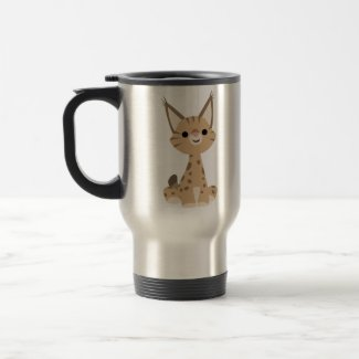 Cute Cartoon Lynx Travel Mug mug