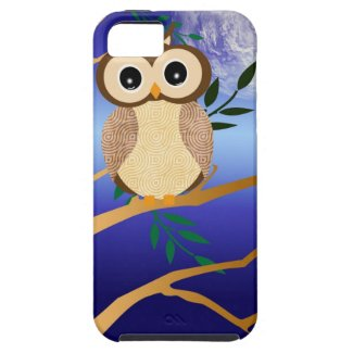 Cute cartoon midnight owl iPhone 5 covers