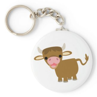 Cute Cartoon Ox keychain keychain