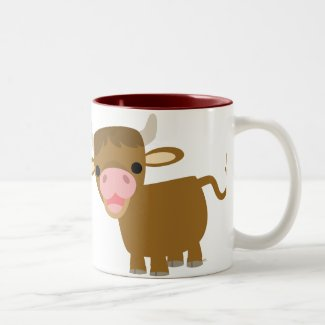Cute Cartoon Ox mug mug