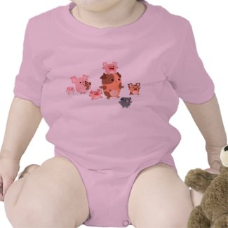 Cute Cartoon Pig Family Baby shirt
