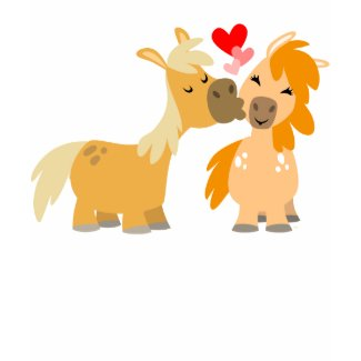 Cute Cartoon Ponies in Love children T-shirt shirt