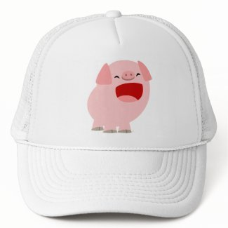 Cute Cartoon Singing Pig Hat hat