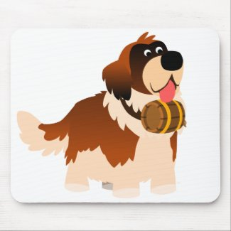 Cute Cartoon St Bernard Mousepad mousepad