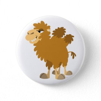 Cute Cartoon Two-Humped Camel Button Badge button