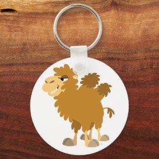 Cute Cartoon Two-Humped Camel Keychain keychain