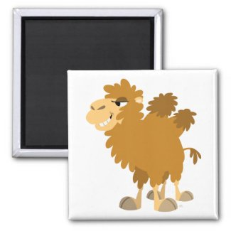 Cute Cartoon Two-Humped Camel Magnet magnet