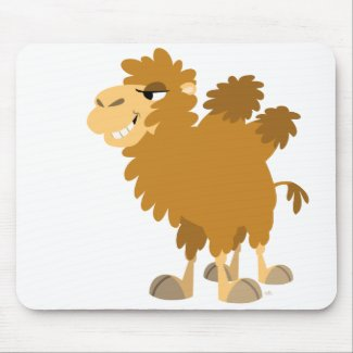 Cute Cartoon Two-Humped Camel Mousepad mousepad