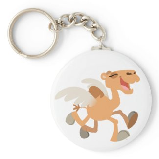 Cute Cartoon Winged-Camel Keychain keychain