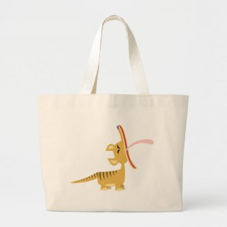 Cute Cartoon Yawning Thylacine Bag bag