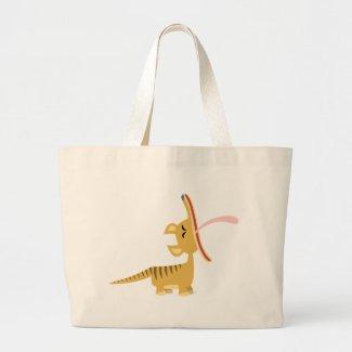 Cute Cartoon Yawning Thylacine Bag bag