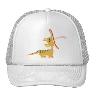 Cute Cartoon Yawning Thylacine Hat hat