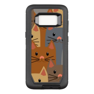 Cute Cats Colorful Cat Face Collage OtterBox Defender Samsung Galaxy S8 Case