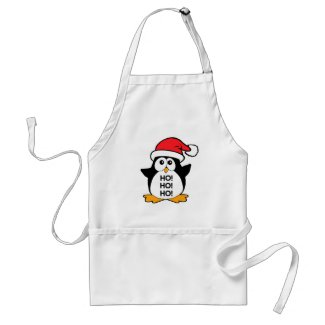 Cute Christmas Penguin Ho Ho Ho Apron