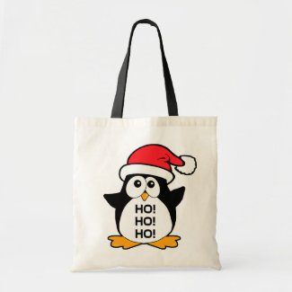 Cute Christmas Penguin Ho Ho Ho Bag
