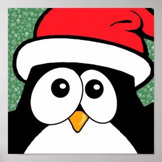 Cute Christmas Penguin Ho Ho Ho Posters