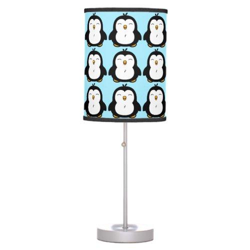 Cute Chubby Penguin Pattern Table Lamp