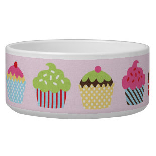 Cute Cupcakes Pet Water Bowls