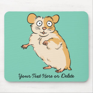 Cute Custom Hamster Graphic Mouse Pad