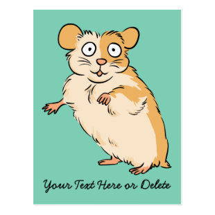 Cute Custom Hamster Graphic Postcard