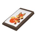 Cute Dancing Cartoon Fox Wallet