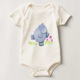 Cute Dancing Hippo zazzle_shirt